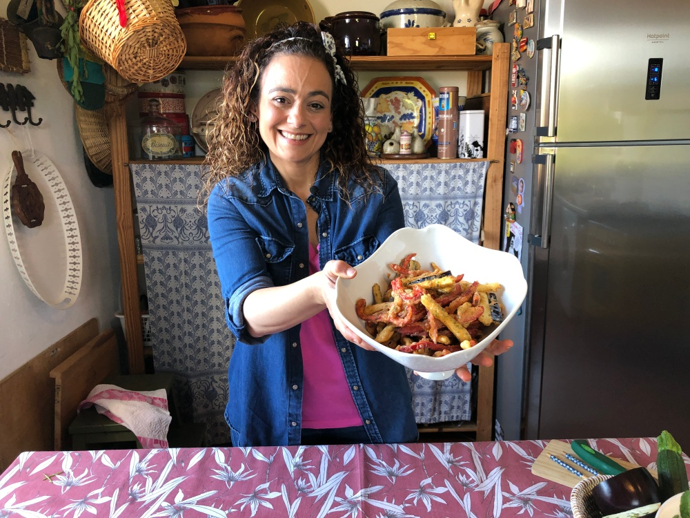 Fritura italiana de verduras (sin huevo)