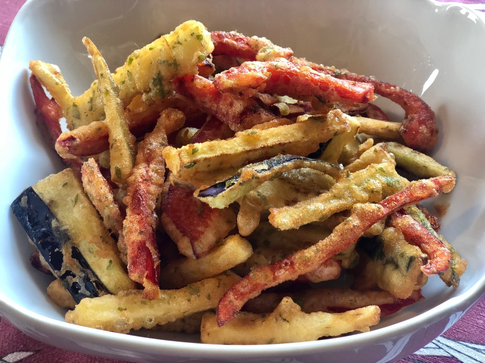 Plato de fritura de verduras