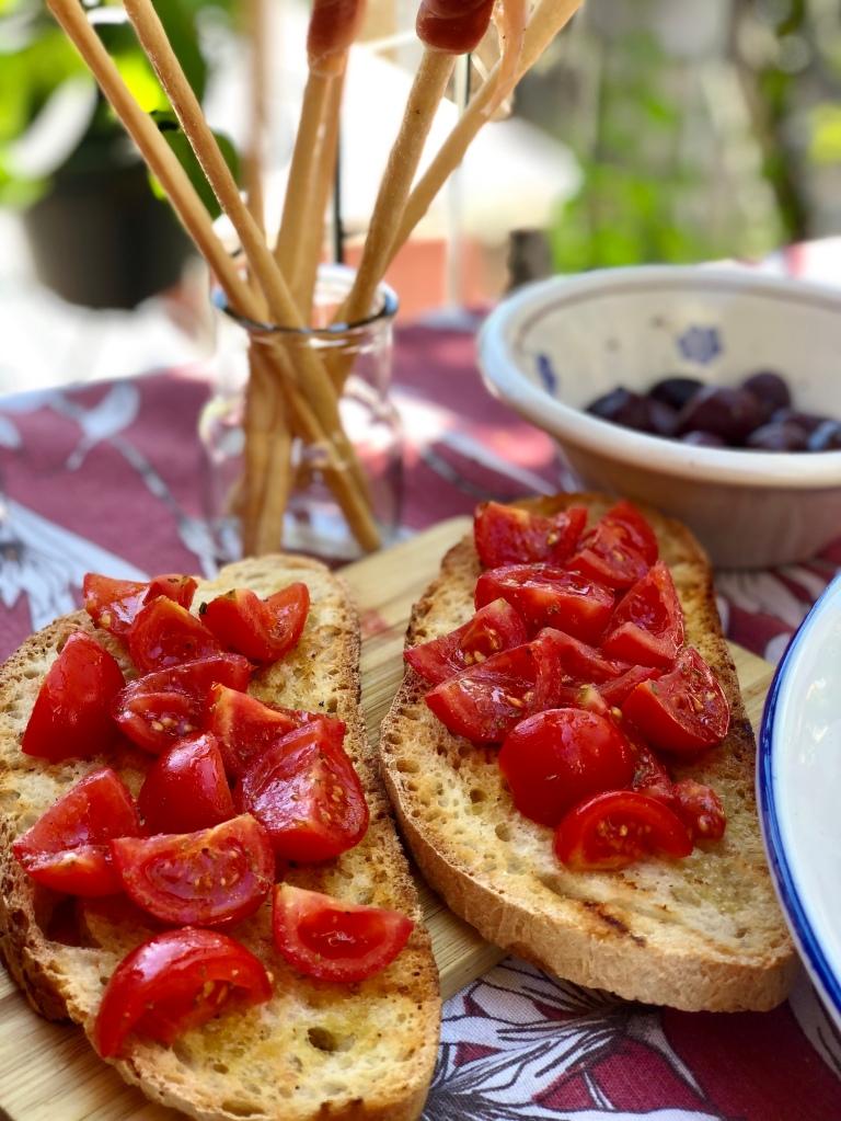 Bruschetta de tomates