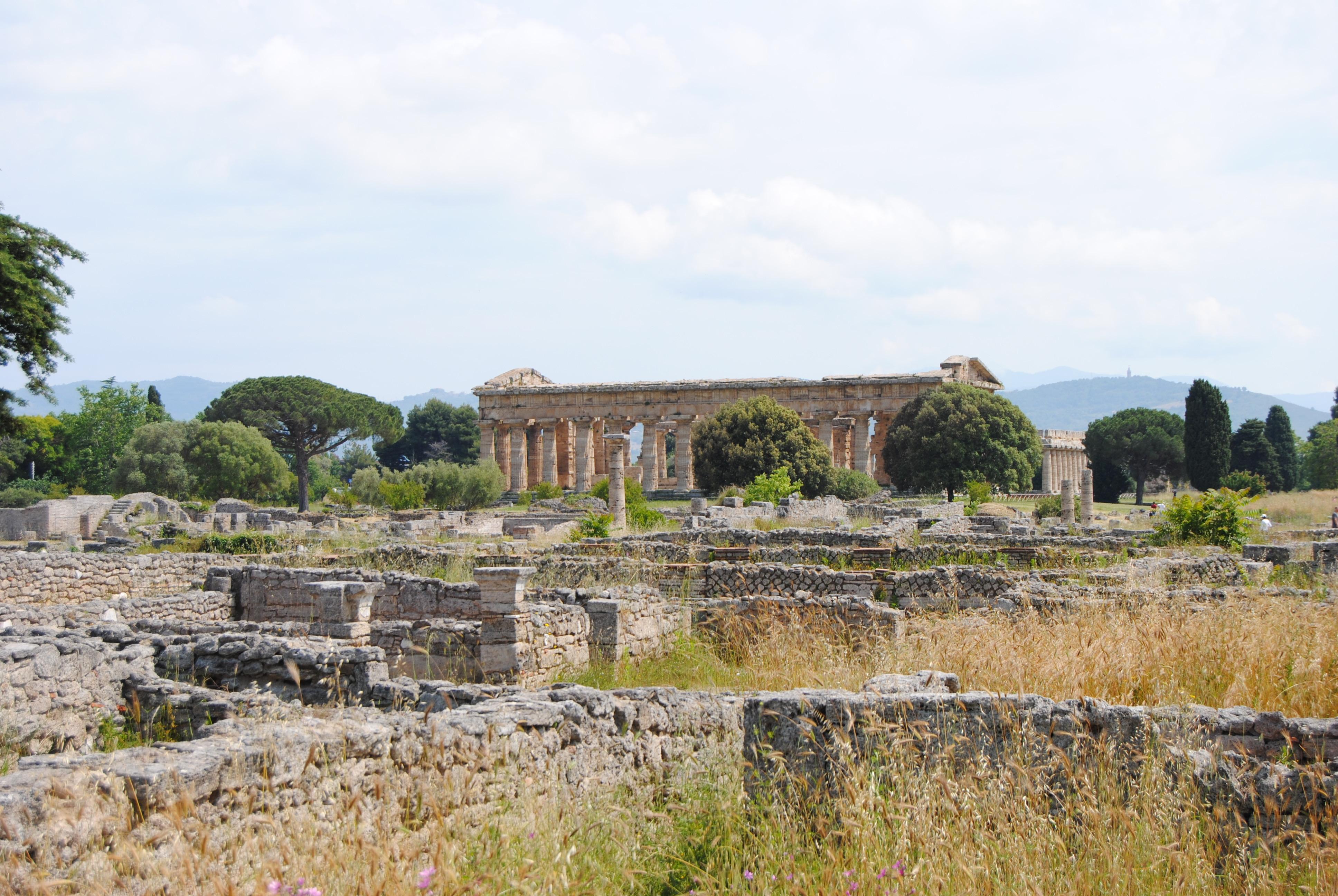 Parque arqueológico de Paestum en Italia