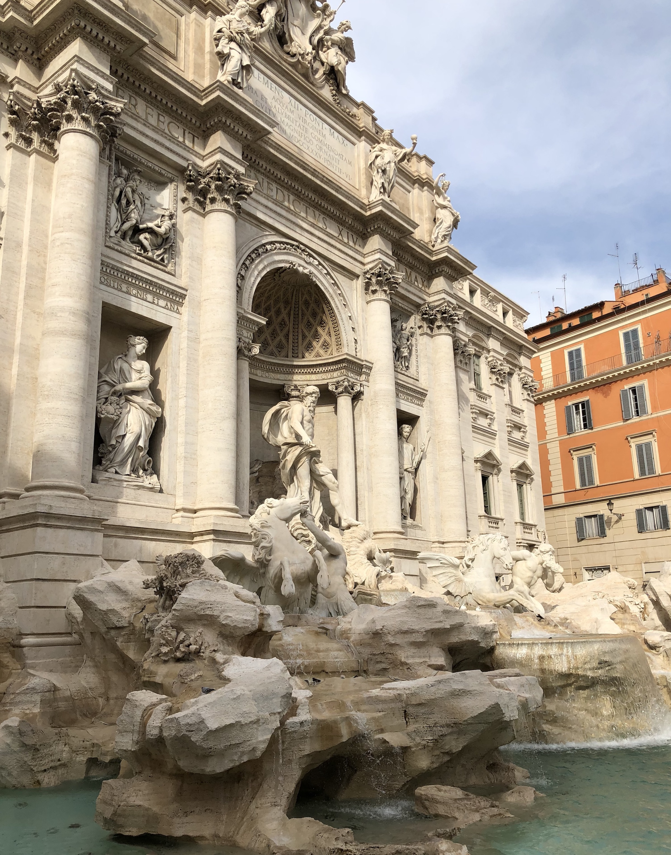 La Fontana di Trevi en Roma
