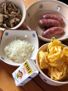 Ingredientes para pasta italiana