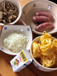 Ingredientes para pasta italiana